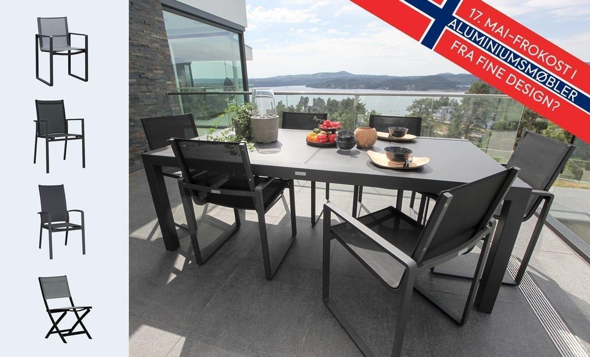 Feire 17. mai i aluminiumsmøbler fra Fine Design