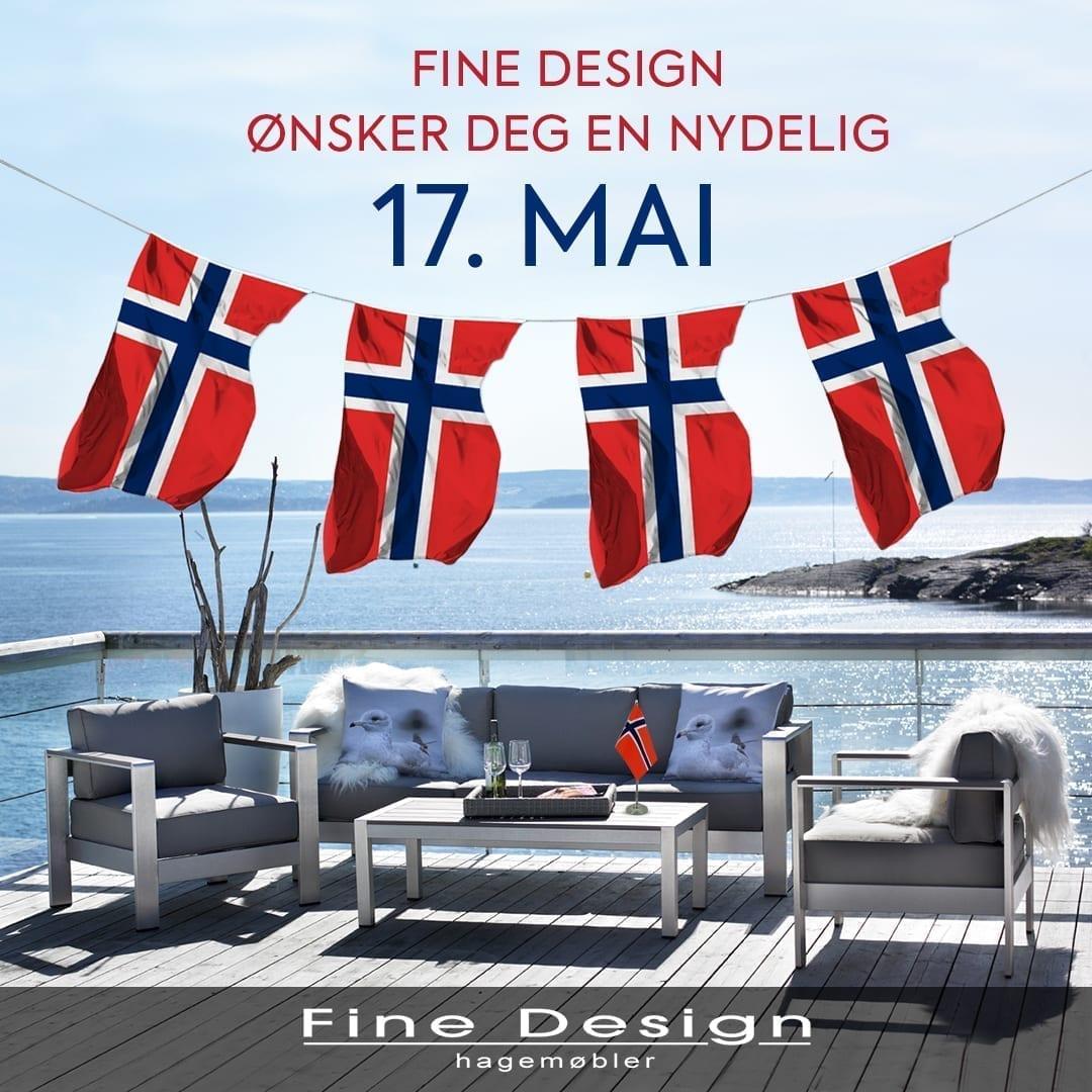 Fine Design ønsker deg en nydelig 17. mai!
