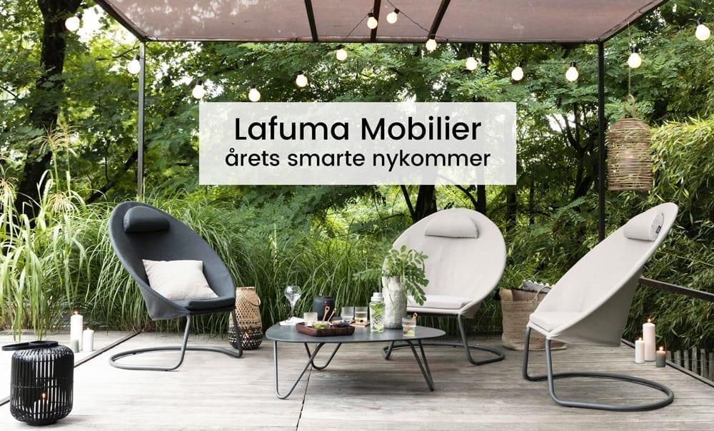 Hagemøbler fra Lafuma Mobilier på uteplass