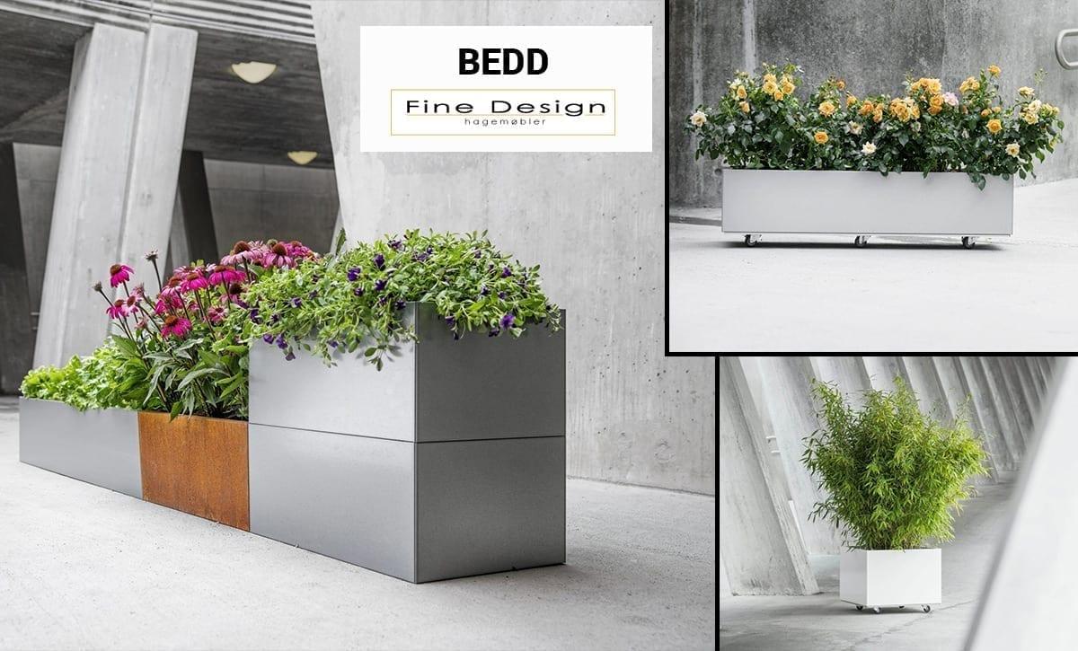 Fine Design selger Bedd plantekasser i ulike varianter