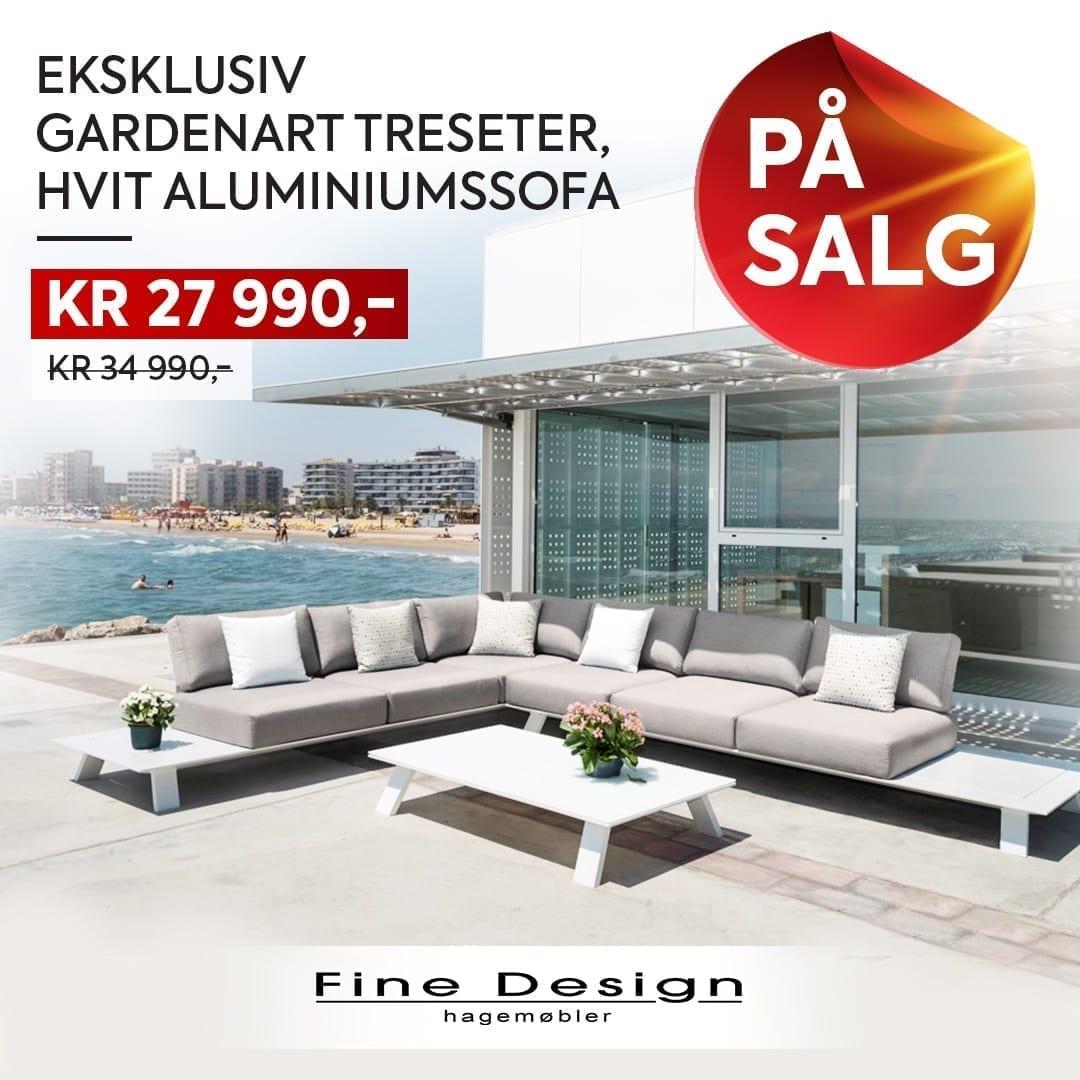 Gardenart-hagesofa-i-hvit-aluminium