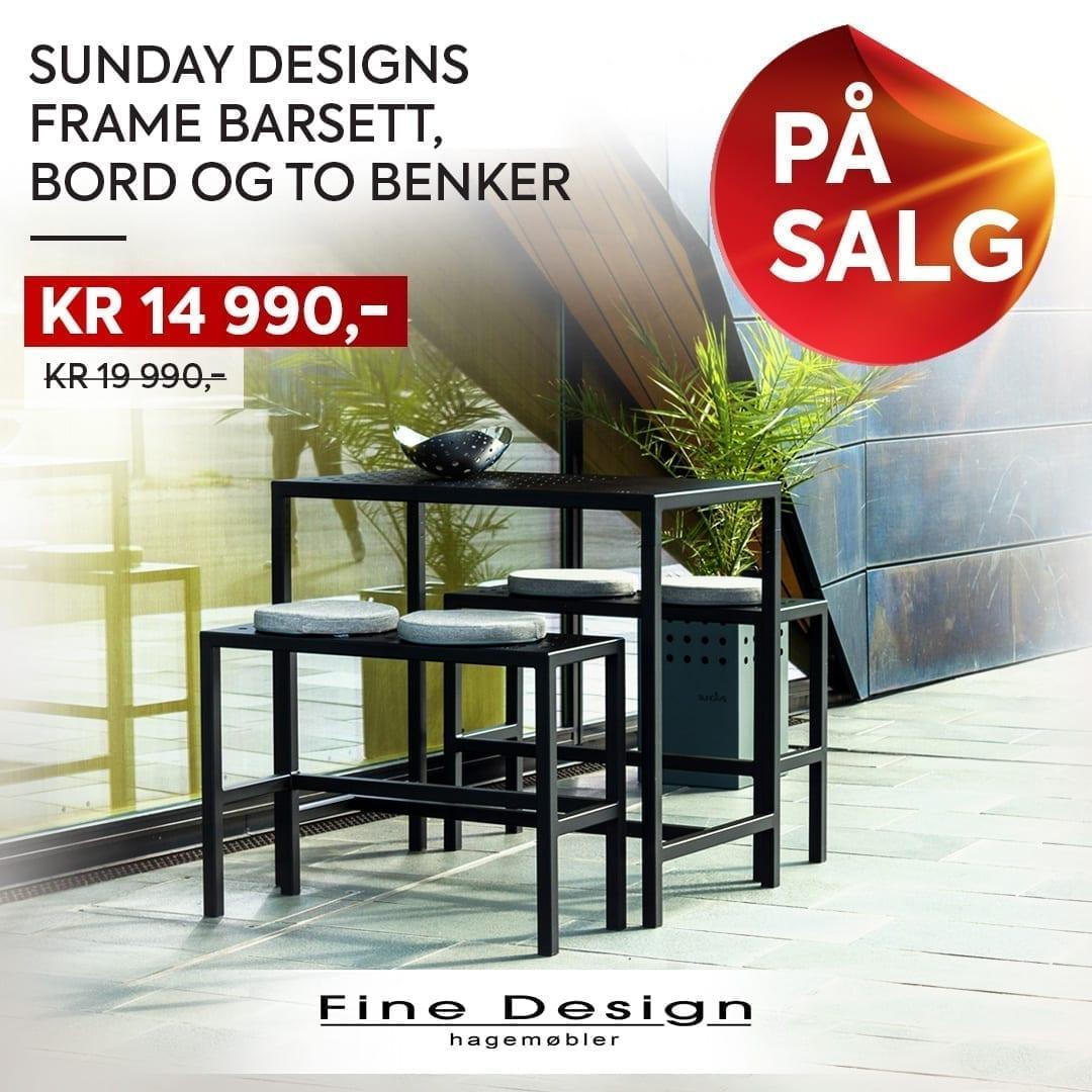 Salg på sundays frame barsett med bord og to benker
