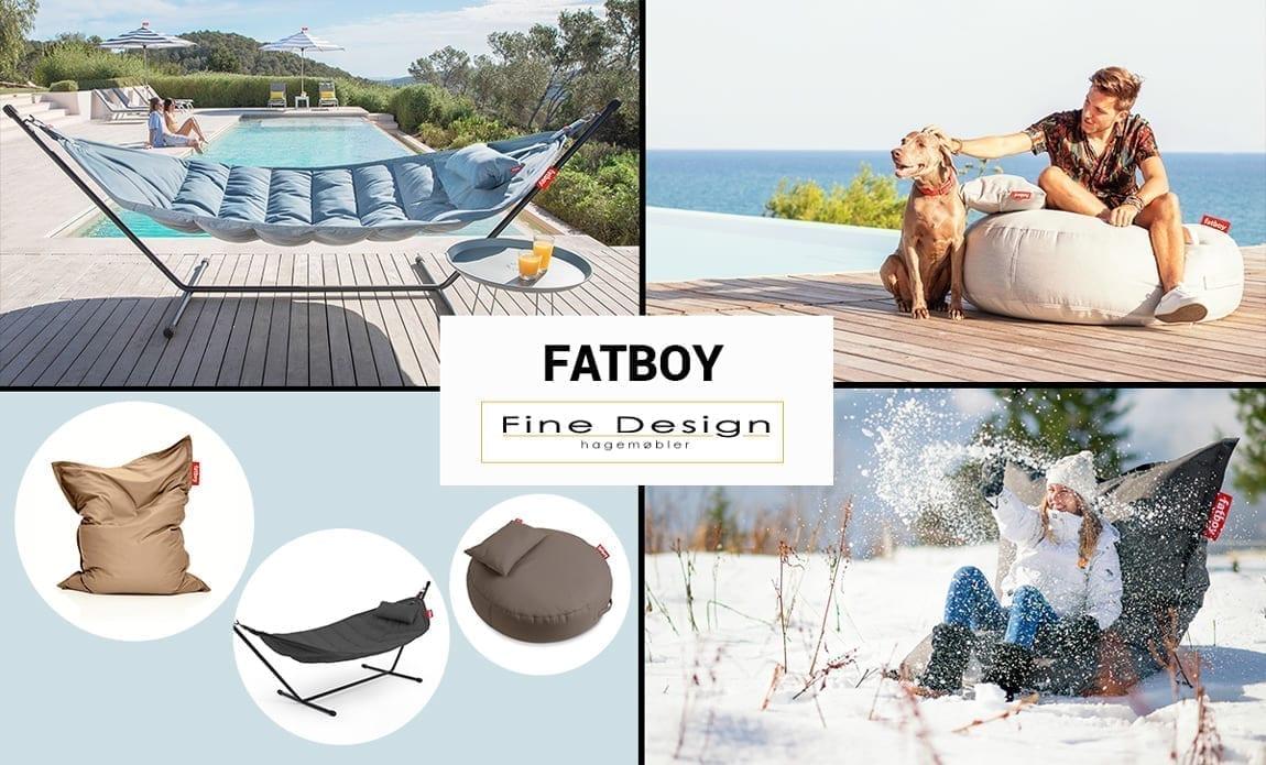 Sitt behagelig på uteplassen i Fatboy hagemøblermøbler og utemøbler - Fine design