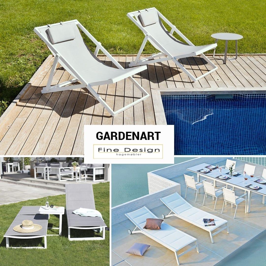 Nyt solen i Gardenart solstoler og solsenger som du får hos Fine Design