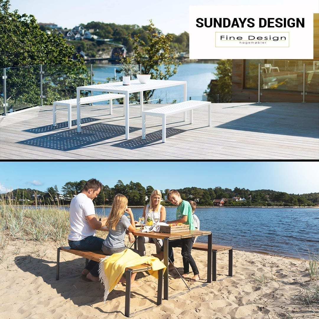 Sundays Design hagemøbler passer både på plattingen eller nede på stranda