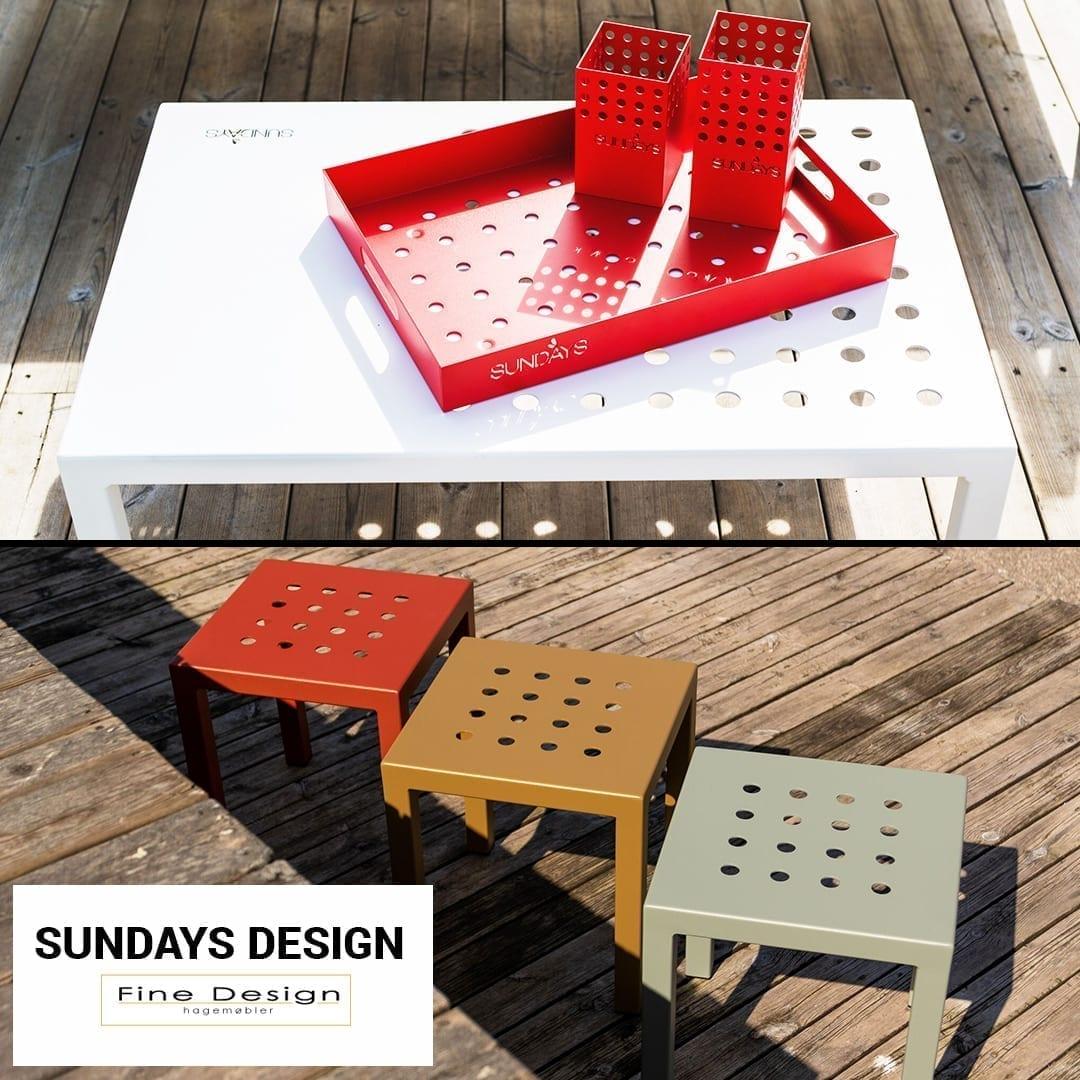 Fargerike småbord og brett i aluminium - fra Sundays