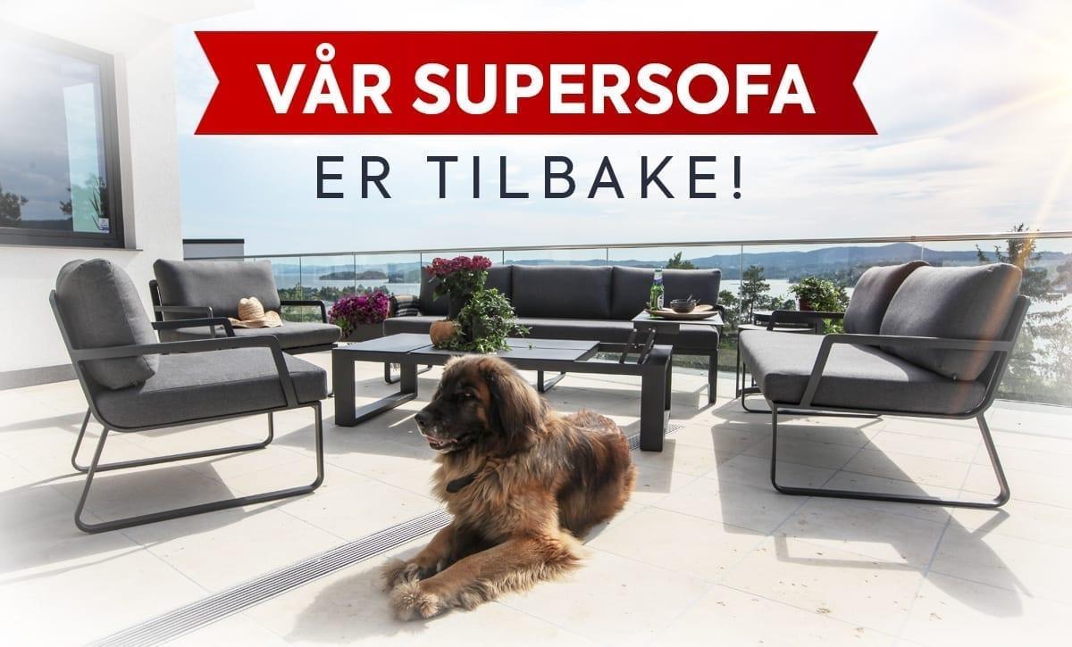 Supersofaen fra Gardenart er tilbake på lager
