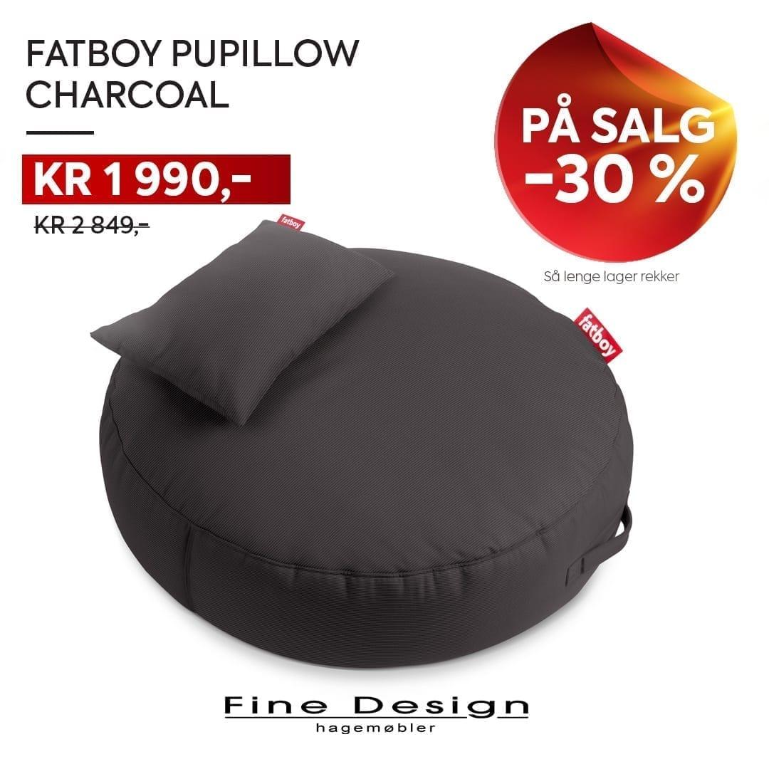 Fatboy Pupillow sekkestol i charcoal på salg - 30 % avslag