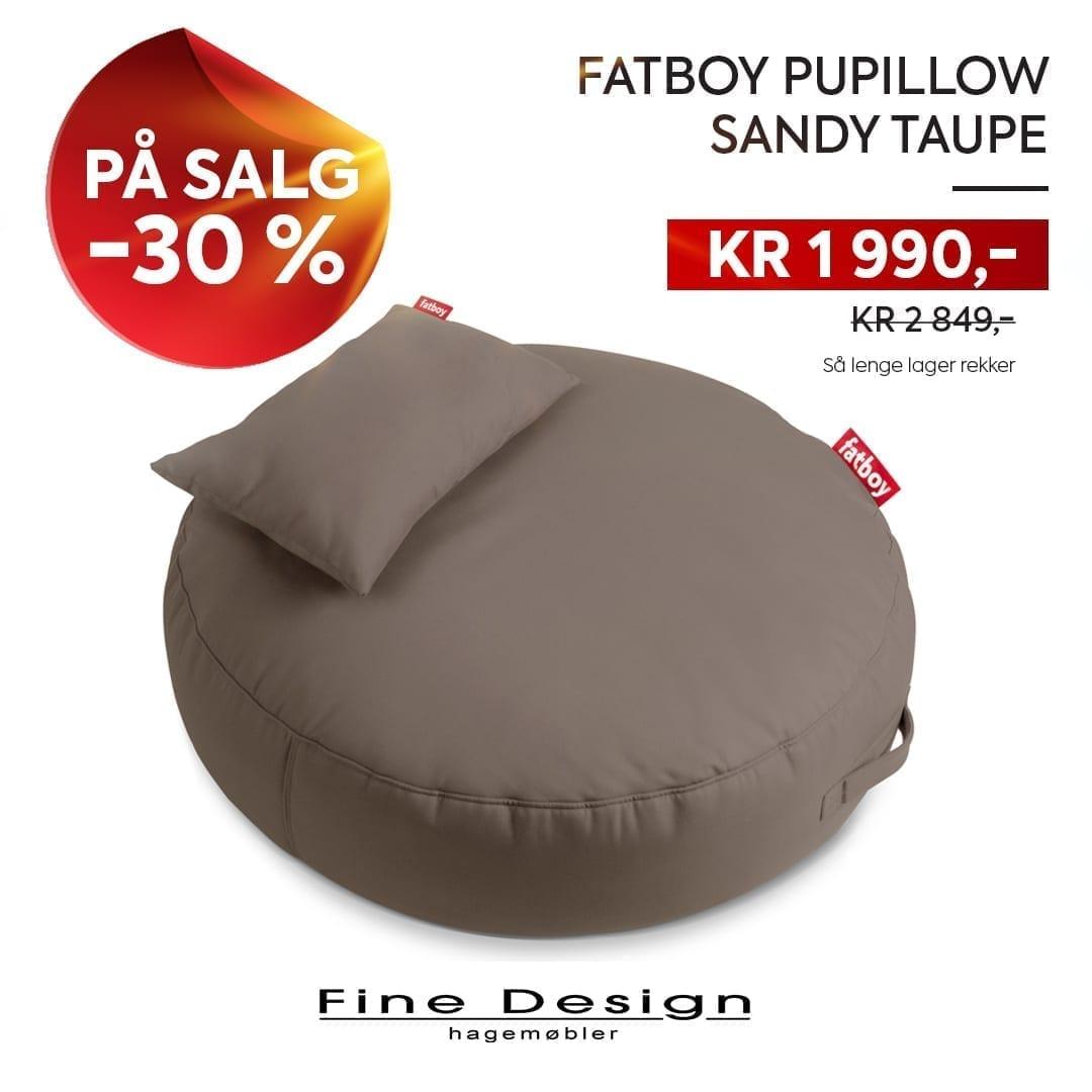 Fatboy Pupillow sekkestol i sandy taupe på salg - 30 % avslag