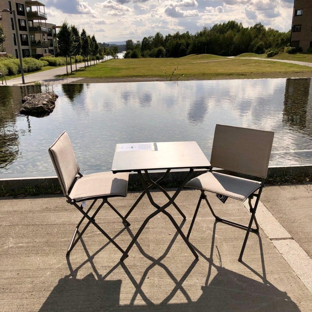 Salg! Lafuma Bord Med To Stoler Hagemøbler og utemøbler - Fine design