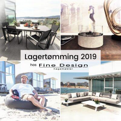 Lagertømming 2019; Sesongens Siste Hagemøbelsalg Hos Fine Design Hagemøbler og utemøbler