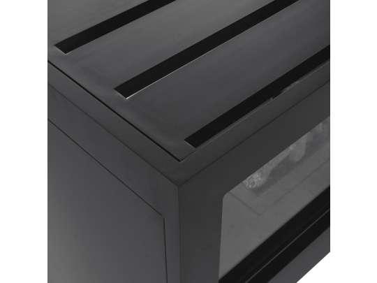 Cosivista-120 gasspeis nærbilde av sort bordplatedetalj