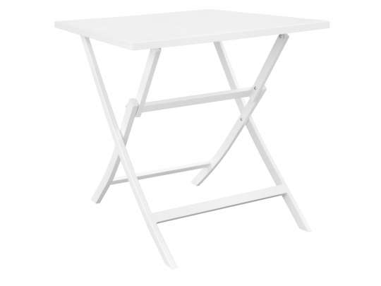 Gardenart klappbord i hvit aluminium
