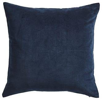 Nærbilde av mørk blå pute
