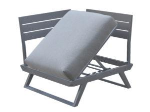 Gardenart fleksibel hjørnesofa modulelement i sort aluminium