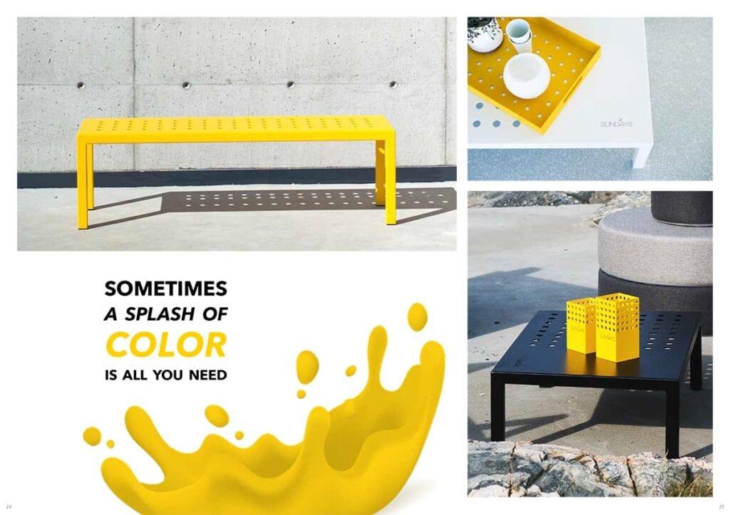Fargerike-sundays-design Hagemøbler og utemøbler - Fine design