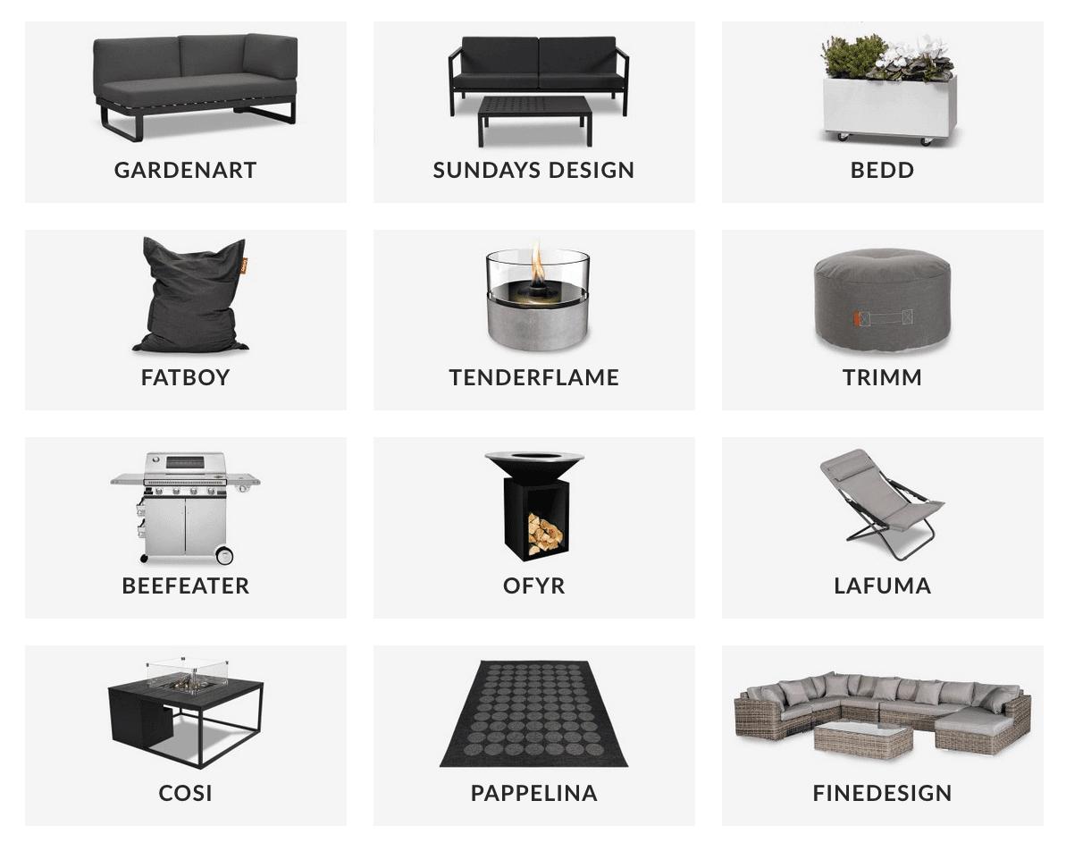 Fine-design-hagemøblers-merker-i-nettbutikken Hagemøbler og utemøbler - Fine design