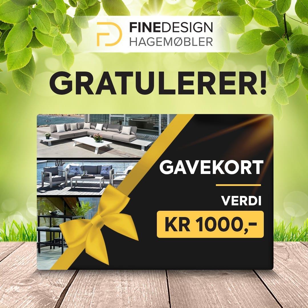 Gratulerer-til-vinneren-av-gavekortet-våren-2020 Hagemøbler og utemøbler - Fine design