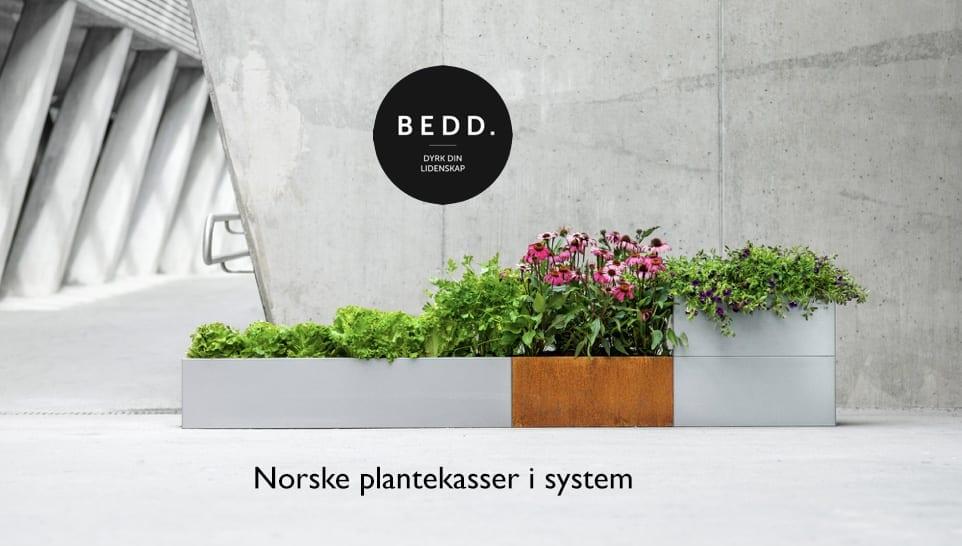 Norske-plantekasser-satt-i-system-bedd Hagemøbler og utemøbler - Fine design