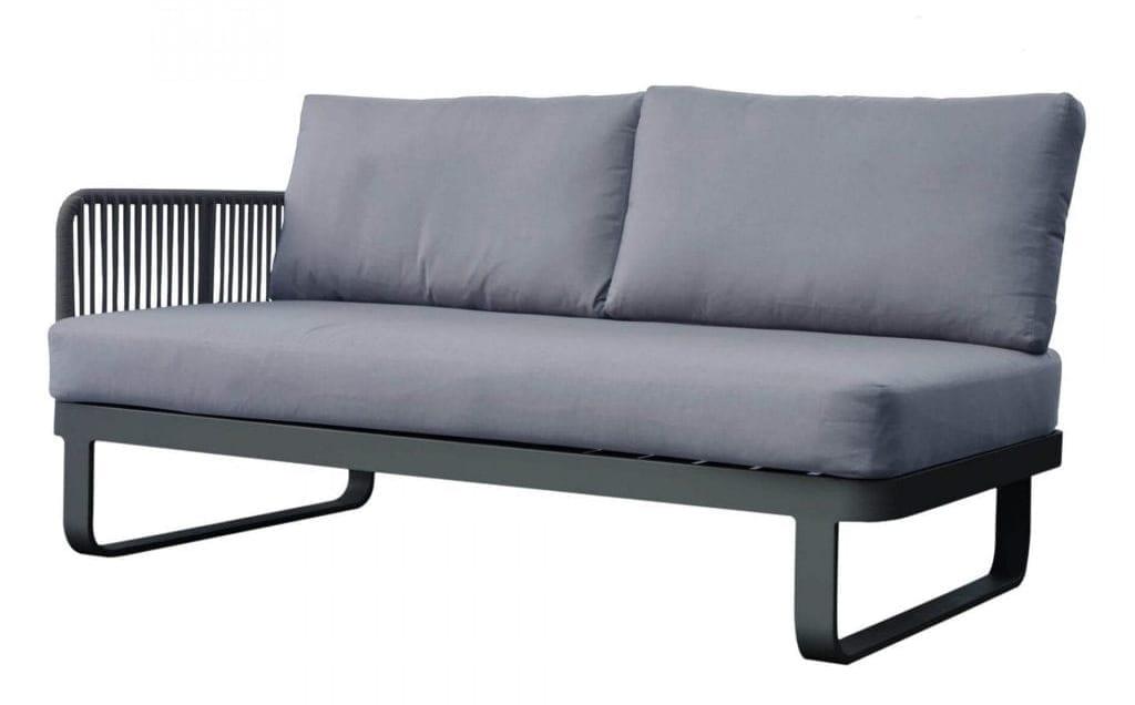 Gardenart-sofa-i-sort-og-grått-med-tau-100501tau Hagemøbler og utemøbler - Fine design