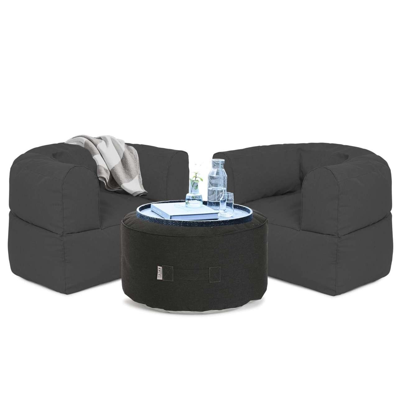 Arm-strong-sett-antrasitt Hagemøbler og utemøbler - Fine design