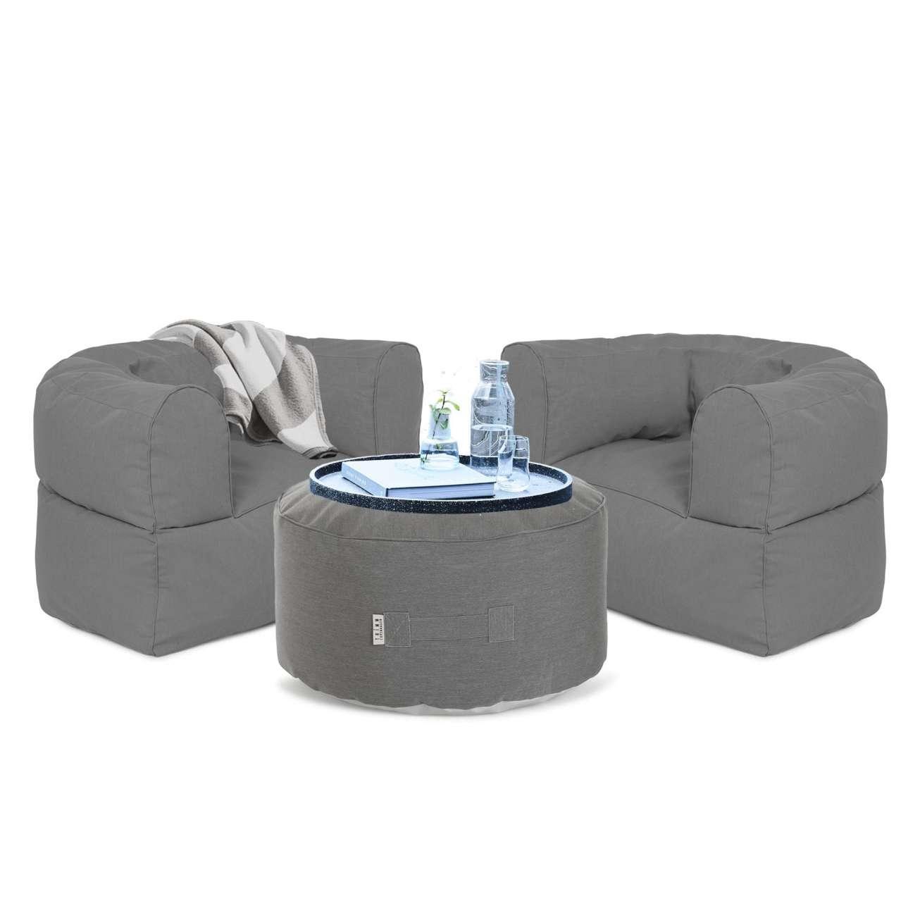 Arm-strong-sett-grå Hagemøbler og utemøbler - Fine design