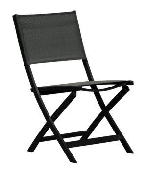 Gardenart Klappstol I Sort Aluminium Og Sort Textilene (100517) Hagemøbler og utemøbler - Fine design