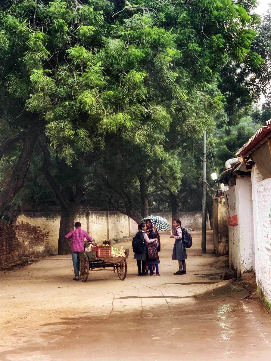 Barn-i-gaten-under-store-gronne-traer-i-india-house-of-good-people Hagemøbler og utemøbler - Fine design