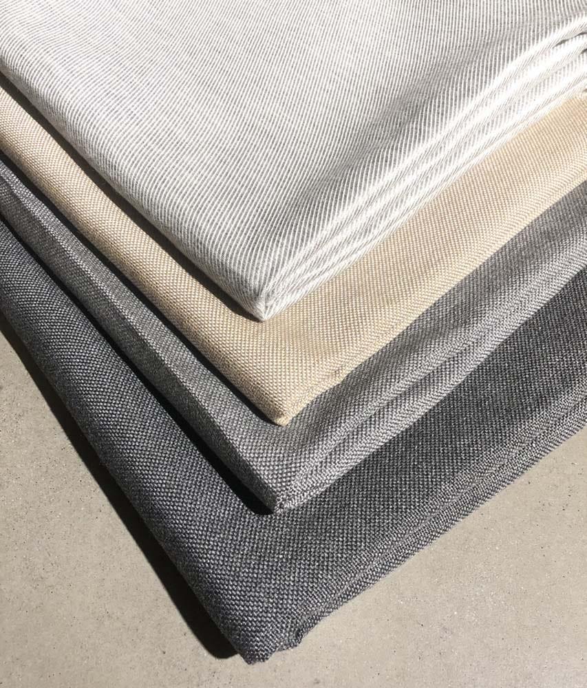 Tekstilene i våre fire, utvalgte farger