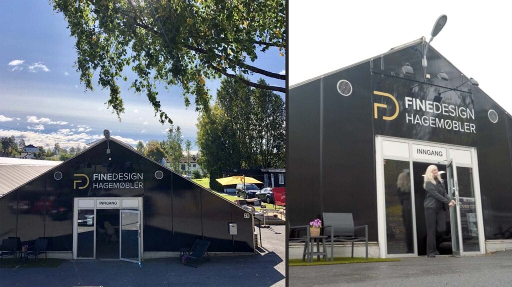 Fine-designs-nye-lokale-på-hovik Hagemøbler og utemøbler - Fine design