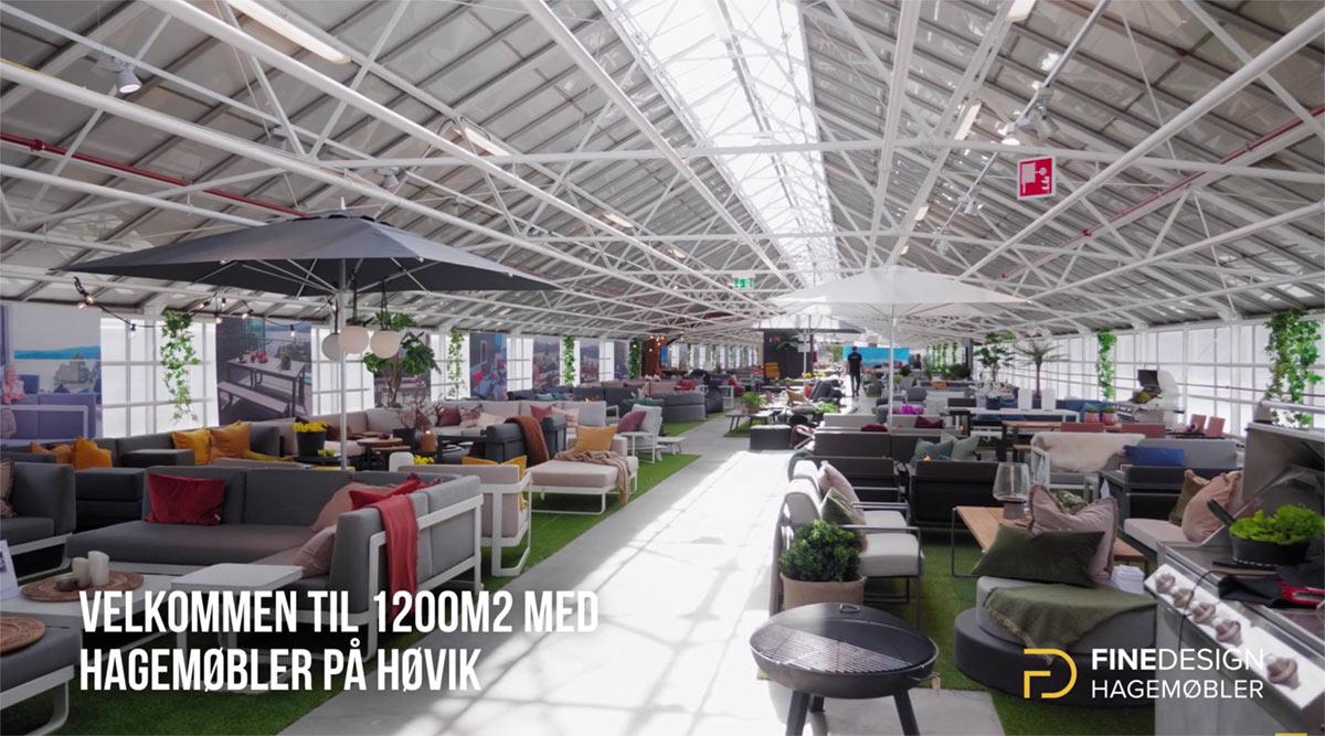 Den fantastiske hagemøbelutstillingen til Fine Design Hagemøbler på Høvik