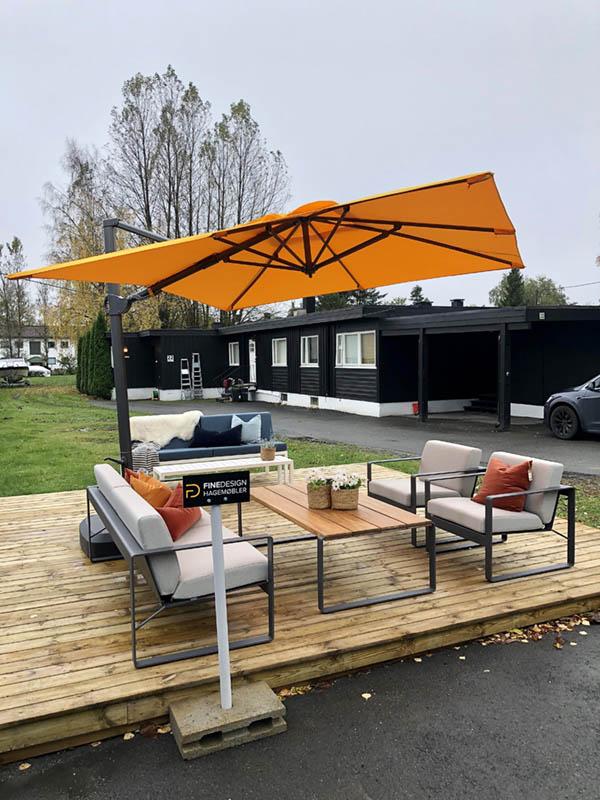 Parasoller fra Fine Design hagemøbler - også på gråværsdager
